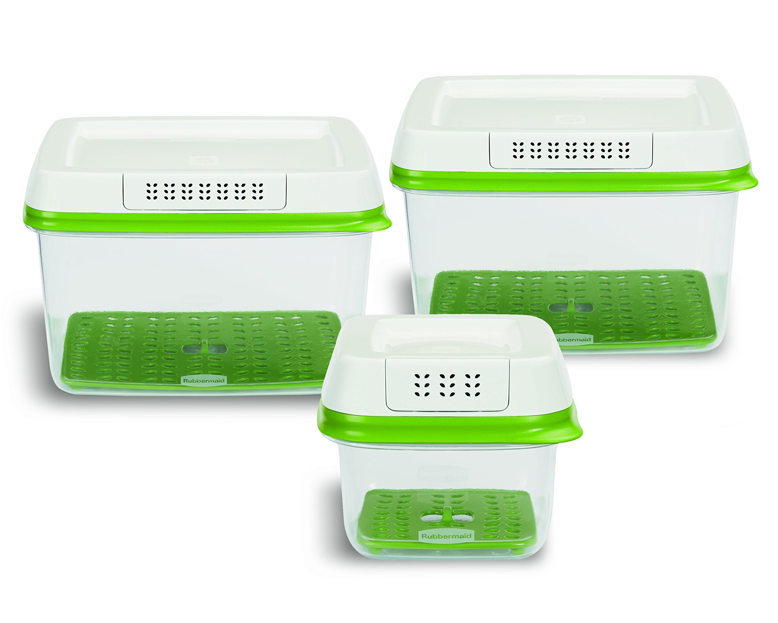 Galleon rubbermaid freshworks produce saver food storage containers set of 3 for Kitchen set toys r us philippines