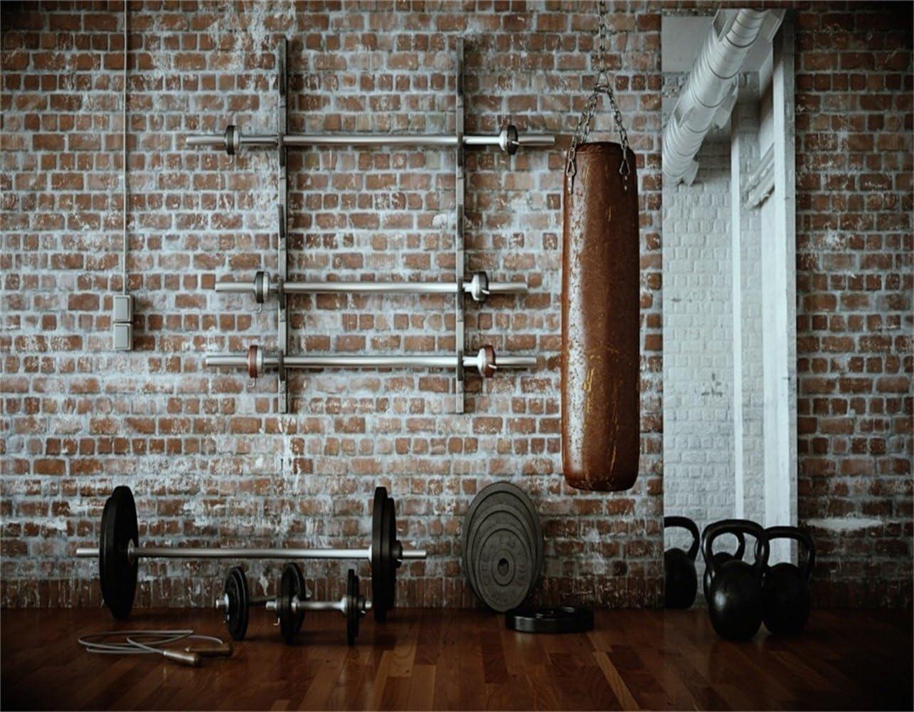 Amazon Com Aofoto 10x8ft Gym Dumbbell Backdrop Indoor Sports