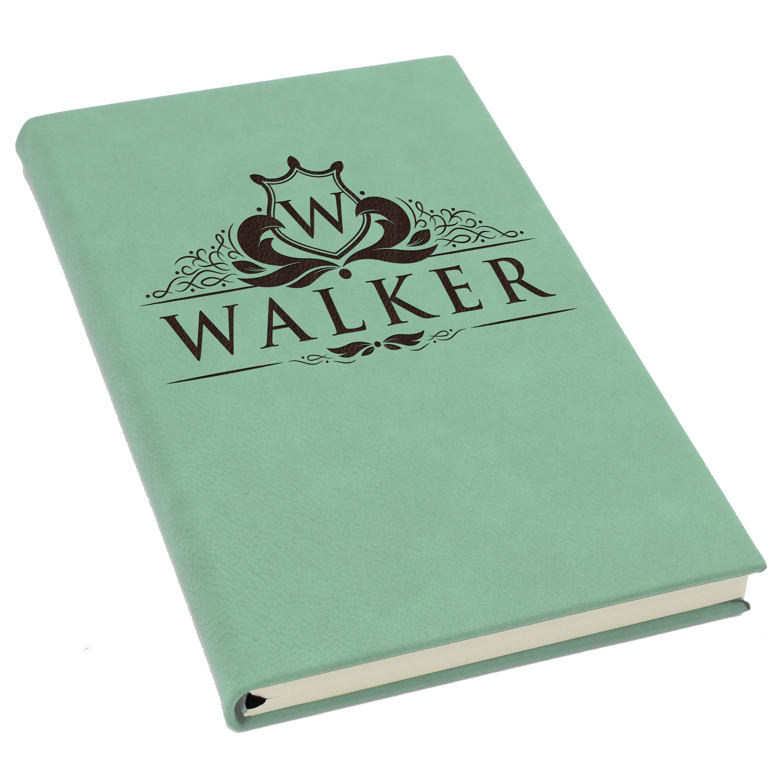 The Wedding Party Store Personalized Journal Notebook - Custom Engraved Travel Writers Gift for Women Men Kids Teachers Students (Teal)