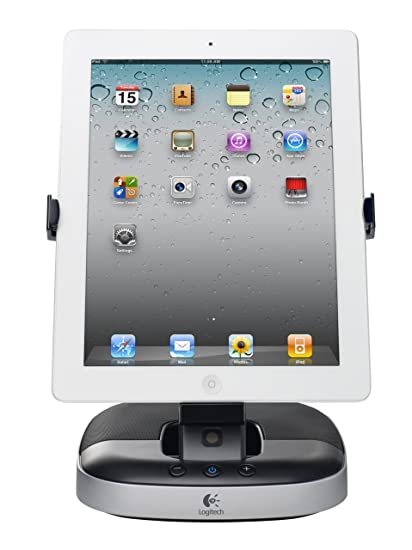 404eb95932 Amazon.com  Logitech Speaker Stand with Charging Station for iPad ...