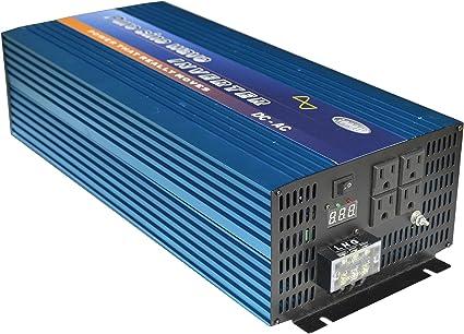 KRXNY 1000W Pure Sine Wave Power Inverter 48V DC to 110V 120V AC 60HZ with LED Display US Output Socket