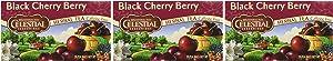 CELESTIAL SEASONINGS HERB Tea,BLK Cherry Berry, 20 Bag (Pack of 3)