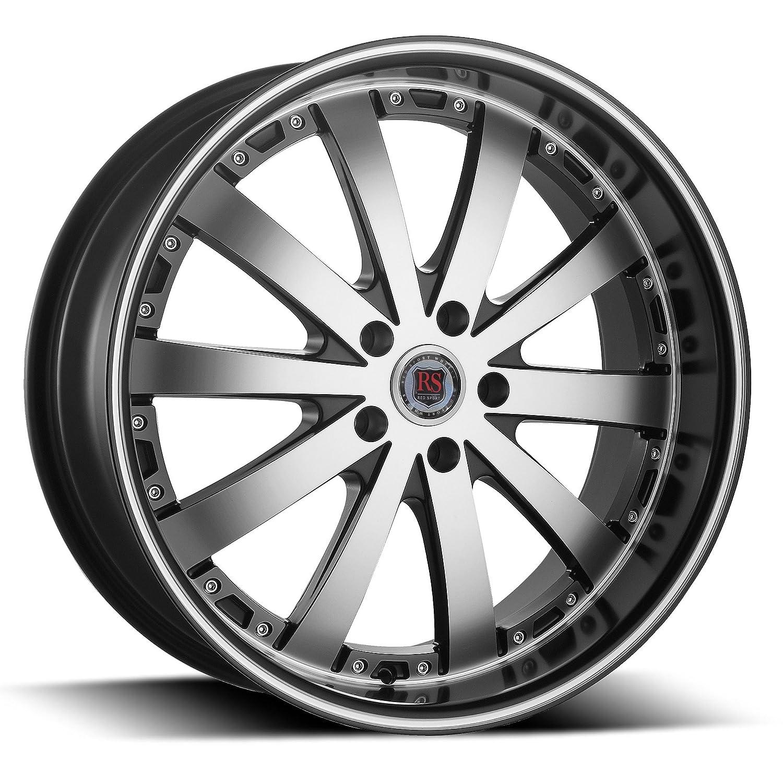 Amazon Com 22 Inch Red Sport Rsw77 Black Machine Wheels Tire