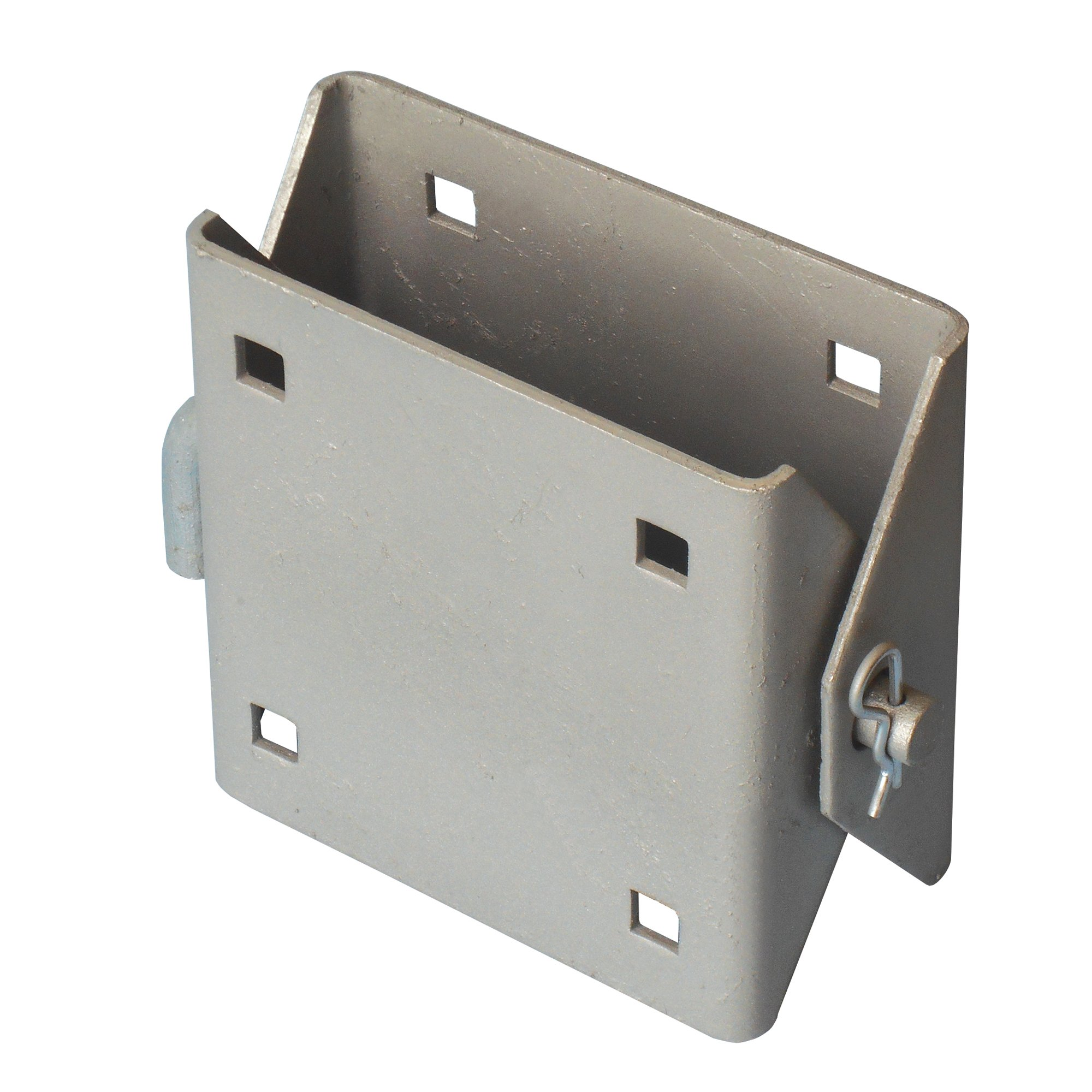 Dock Edge Connector Hinge, 4 Holes, 1/8'', 7/16'' Punch - Galvanized