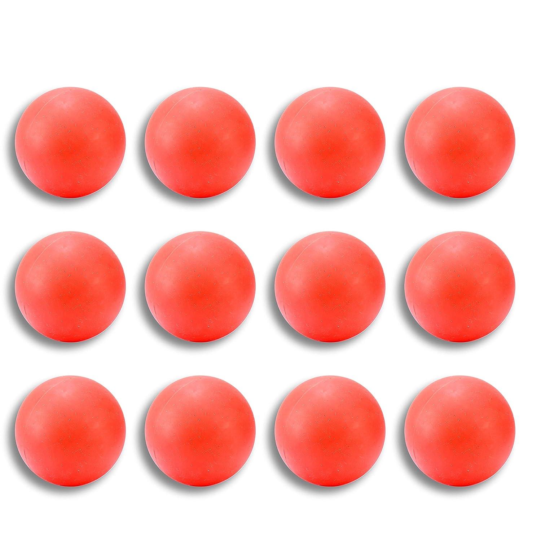 ラクロスマッサージボール レッド 12個パック B07KRQLJ6P