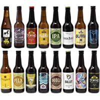 Pack de cervezas artesanas. x16 Las mejores marcas. 5280 ml. El mejor regalo. Incluye Río Azul Flora, medalla de Bronce…