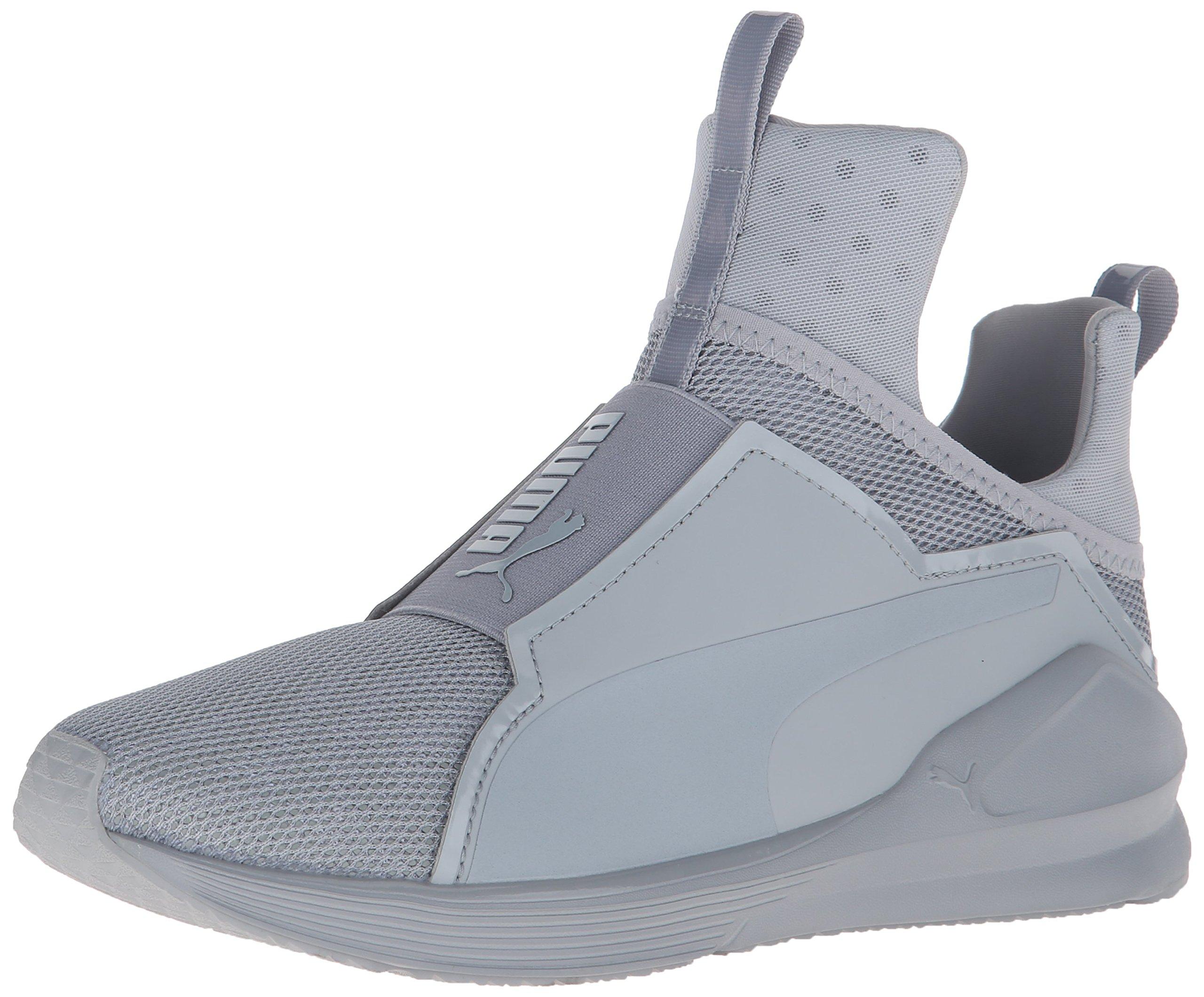 PUMA Women's Fierce Shine Cross-Trainer Shoe, Quarry/White, 5.5 M US