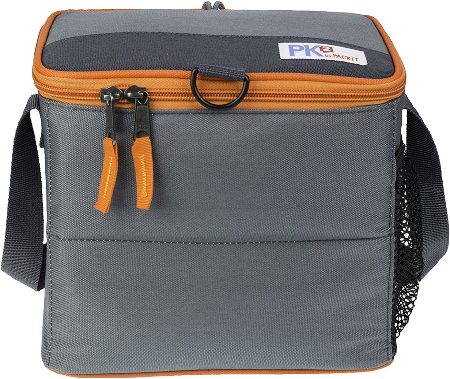 PK2 PK2-CC-GRY PackIt Foldable, Freezable Gray 6-Cans Beverage & Food Cooler, One Size