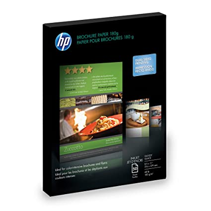 amazon com hp c6817a glossy brochure flyer paper 50 sheets