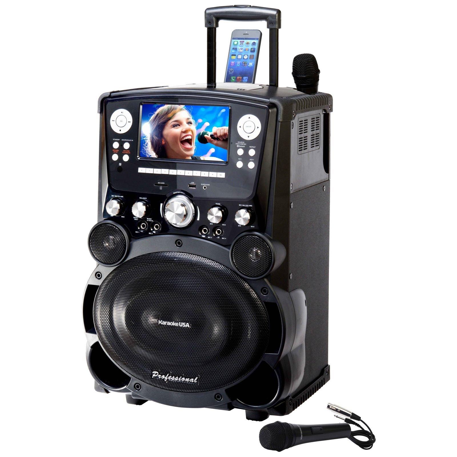 Karaoke USA GP978 Professional DVD/CDG/MP3G Karaoke Player with 7'' Color TFT Display