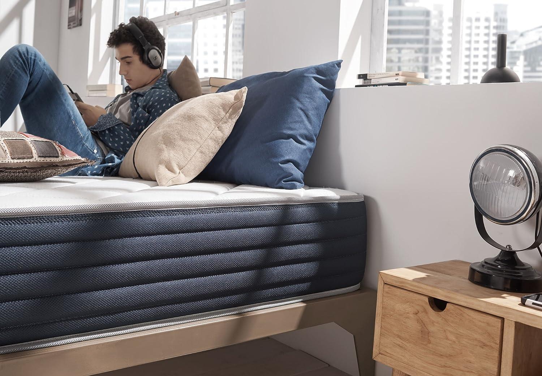 Naturalex Colchón Aura - Núcleo tecnología HR Blue Latex - Viscoelastica Thermosoft - Reversible - 7 Zonas de Confort - 25 cm (140 x 190 cm): Amazon.es: ...