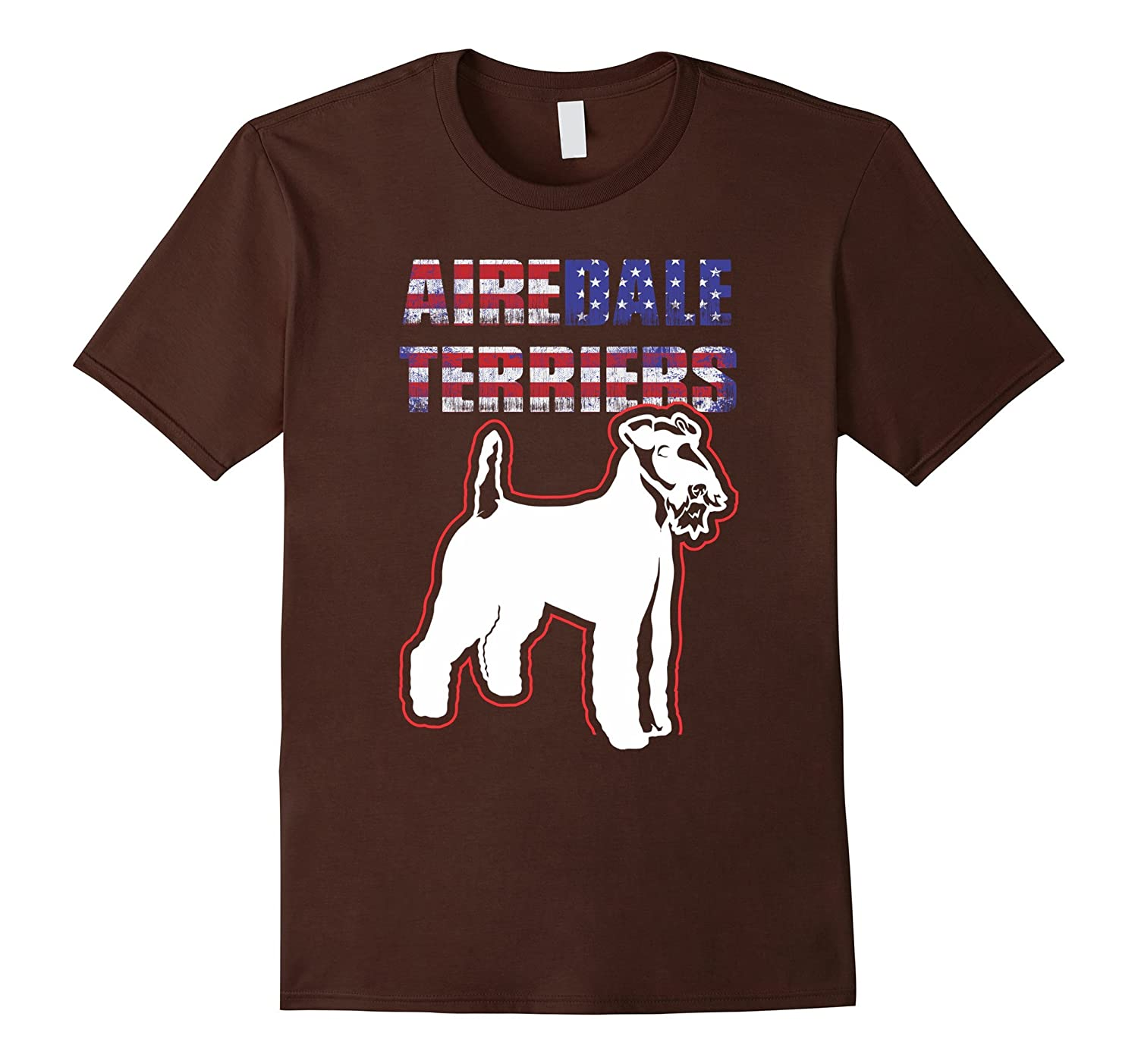 Airedale Terriers Dog American Flag T-shirt, Funny Dog 2017