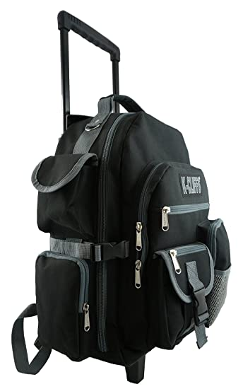 Heavy Duty Wheeld Backpack Deluxe Rolling School With Wheels Quality Book Bag Daypack