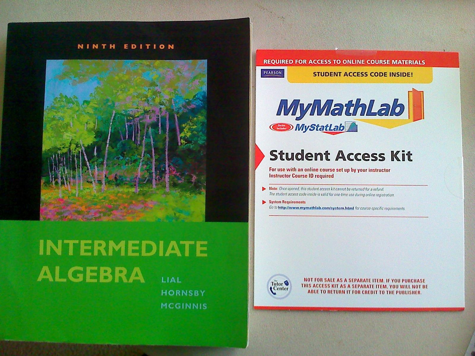 Intermediate Algebra plus MyMathLab Student Access Kit (9th Edition)
