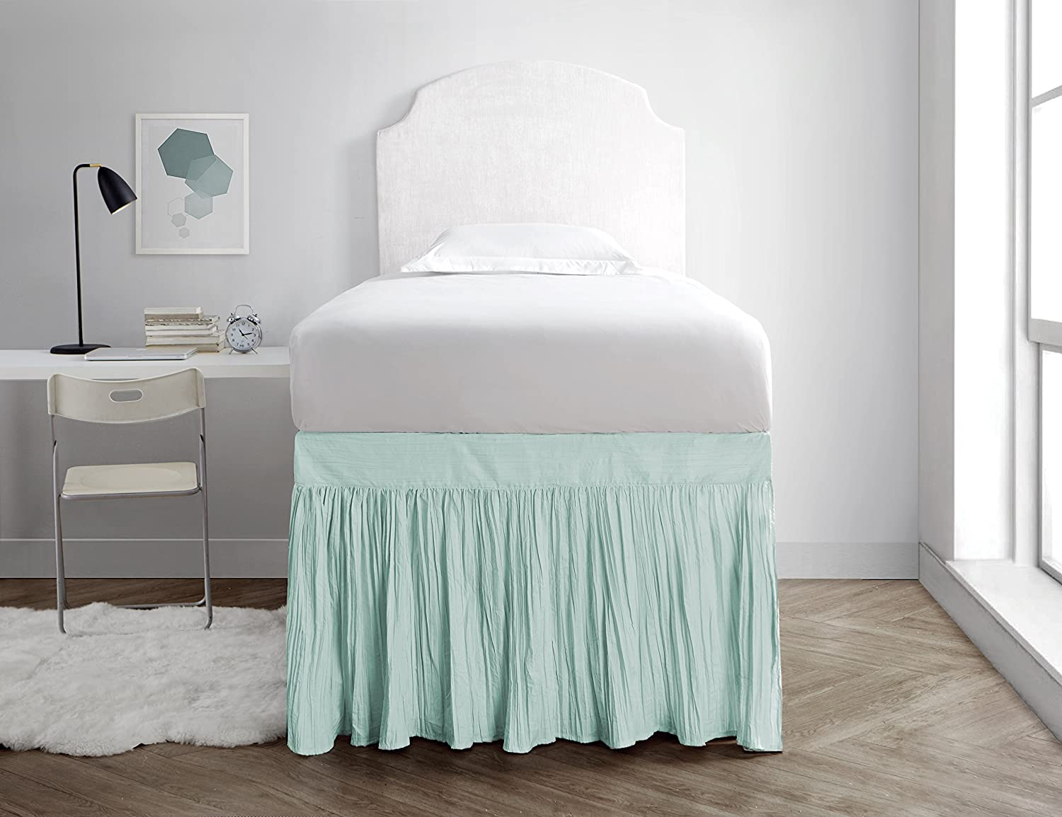 Awe Inspiring Amazon Com Crinkle Dorm Sized Bed Skirt Panel With Ties 1 Download Free Architecture Designs Scobabritishbridgeorg