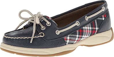 Red Plaid Boat Shoe 7M