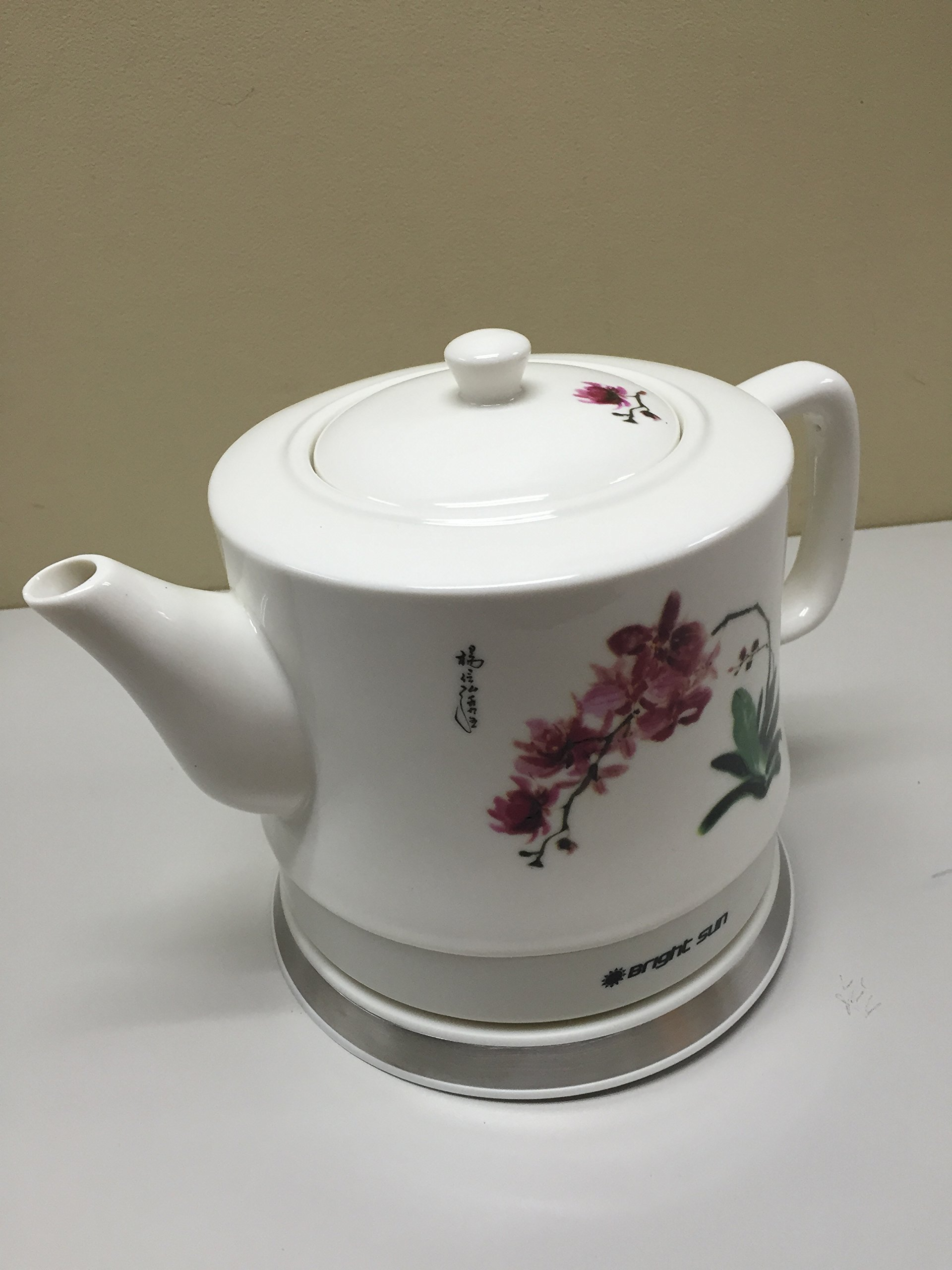 FixtureDisplays Ceramic Electric Kettle with Red White Polka Dots 13581!