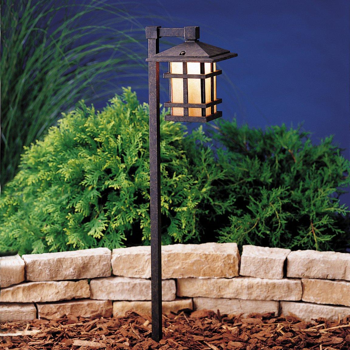 Kichler 15322AGZ One Light Path U0026 Spread   Low Voltage Outdoor Lighting    Amazon.com