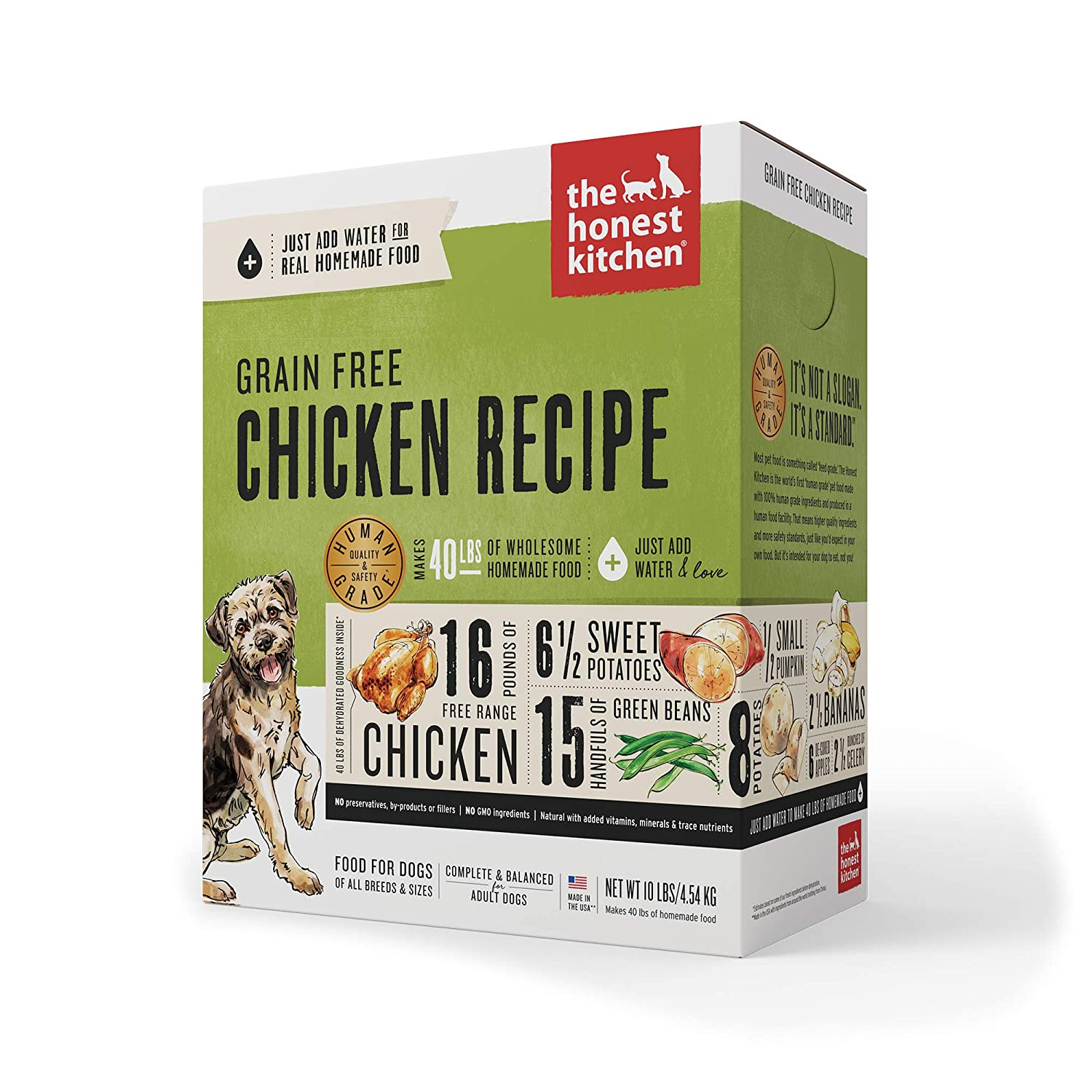 4. The Honest Kitchen Grain-Free Chicken Recipe Dehydrated Dog Food