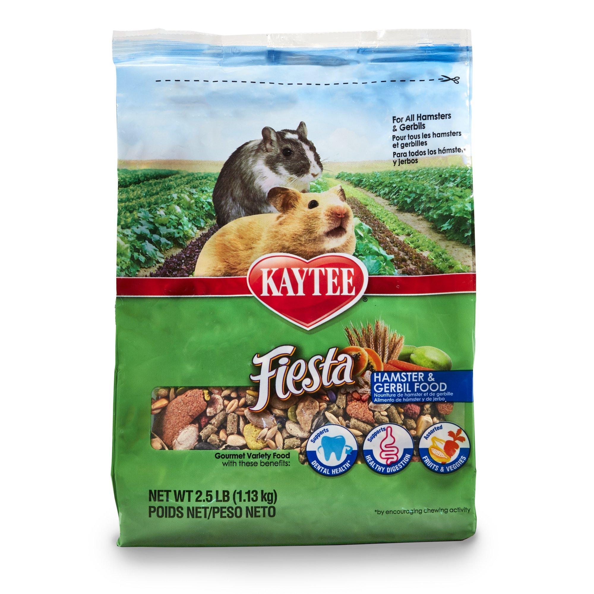 Kaytee Fiesta Hamster and Gerbil Food, 2.5-lb bag