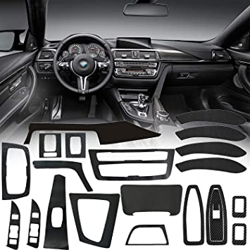ABS Interior Head Light Lamp Switch Button Trim For BMW 320Li 3 4 series GT F30