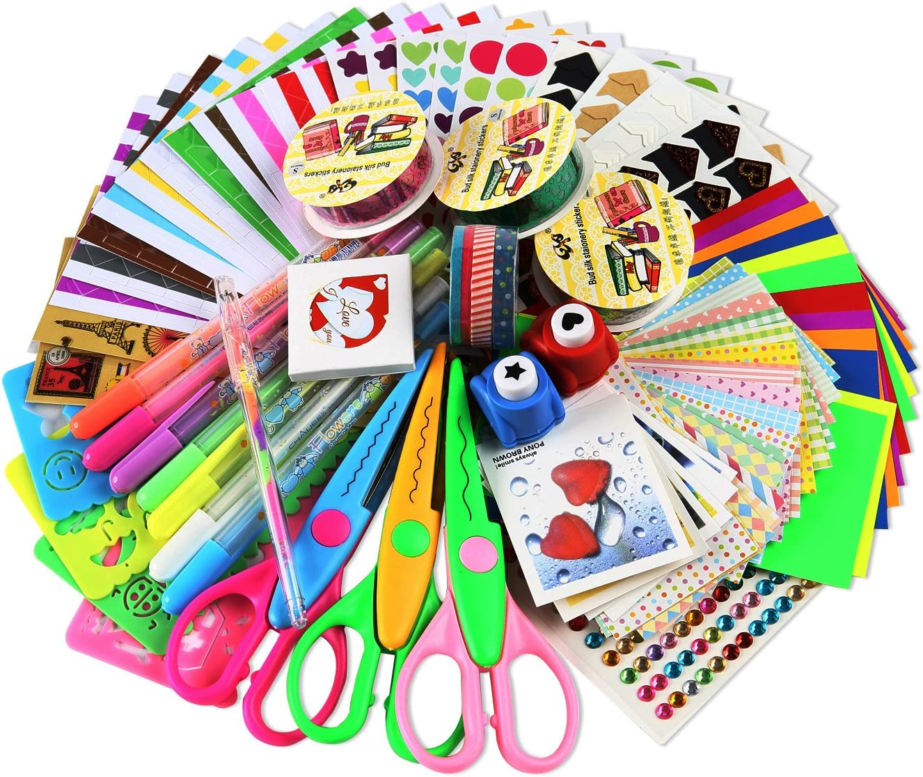 Amazon Com Sicohome Scrapbooking Supplies Scrapbook Kit For Gift Scrapbooking And Card Making