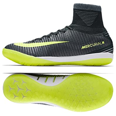 new arrival 55b54 36d3f NIKE MercurialX Proximo II CR7 IC 852538-376 Seaweed Volt Indoor Soccer  Shoes (
