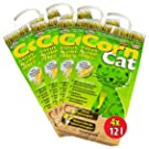 4x12 =48 Liter CORNCAT ÖKO-PLUS NATURSTREU GREEN CAT`S KATZENSTREU - BEST STREU GREEN CAT - kostenloser Versand innerhalb Deutschlands (außer Inseln)