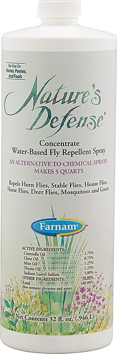Farnam Nature's Defense Concentrate Botanical Fly Repellent, 32 fl. oz.