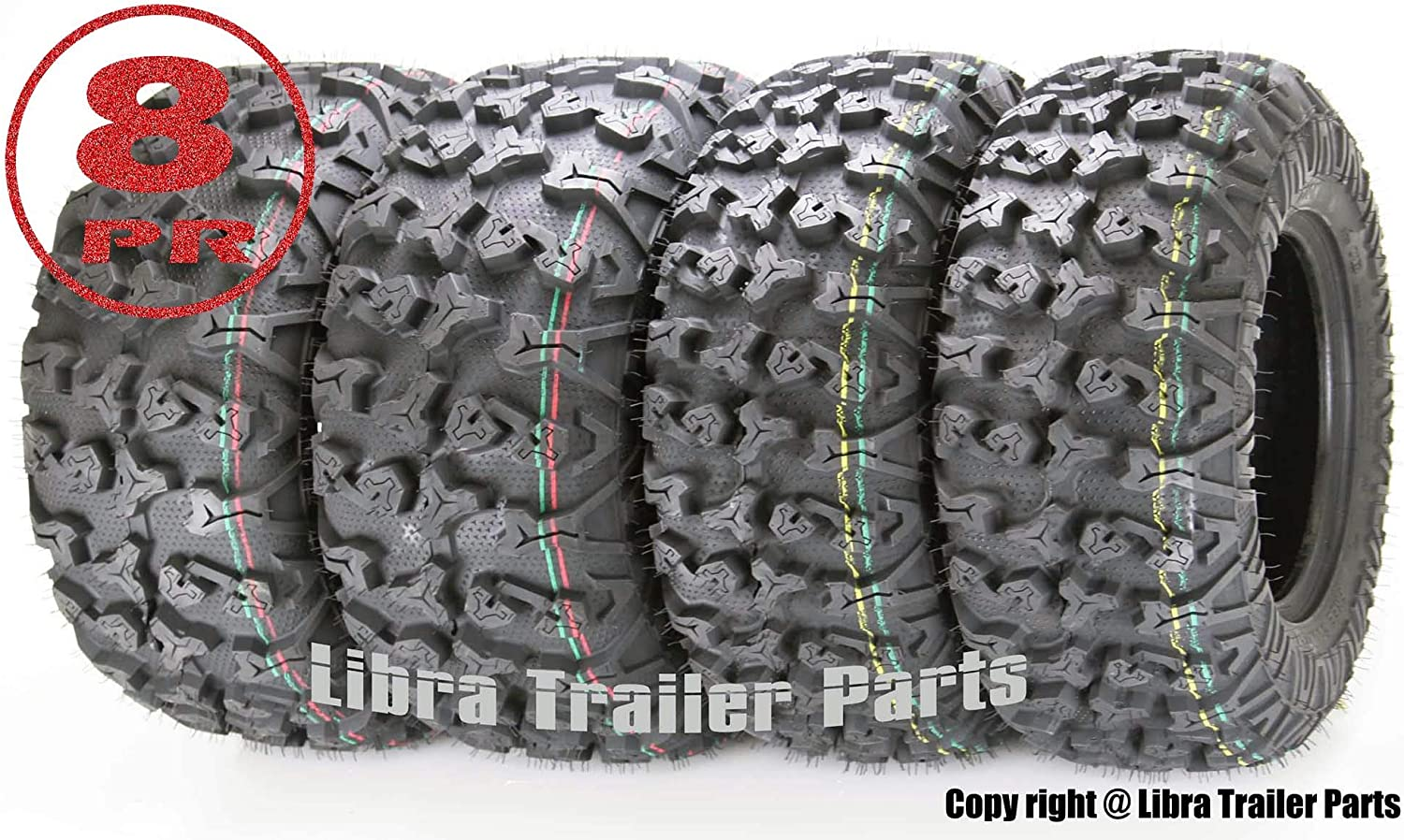 Free Country ATV/UTV Tires 25x8-12 Front and 25x10-12 Rear