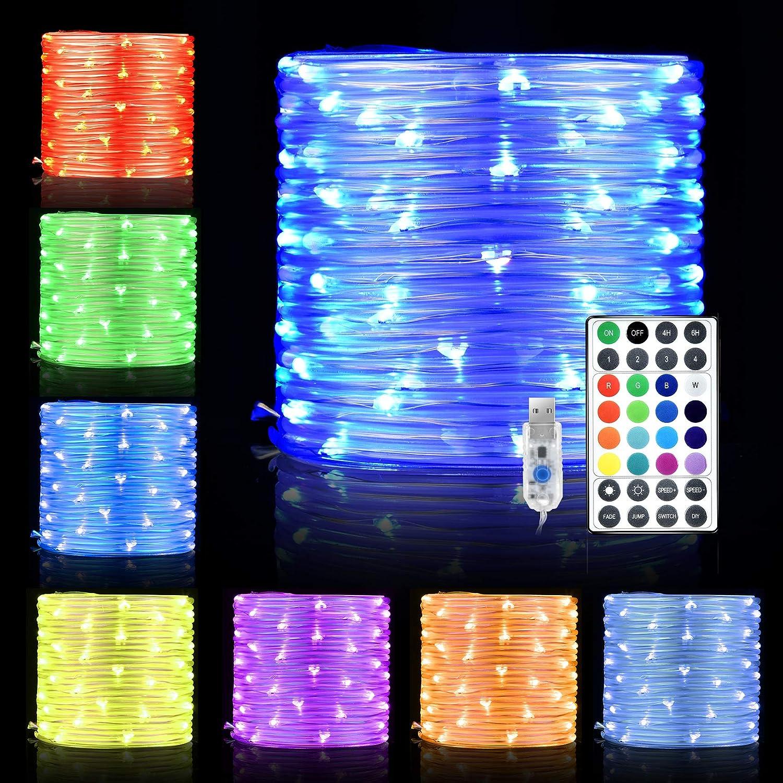 LED Schlauch Außen, Hisome 10M 100 LED Lichterschlauch Innen mit USB