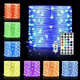 LED-repljus, 10 fot 100 LED 16 färger som ändras inomhus utomhus ljusslingor, USB-drivna flerfärgade blinkande rör…