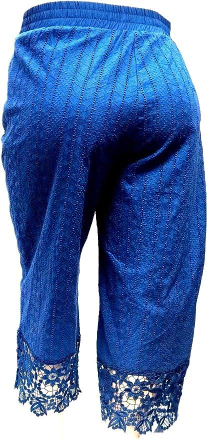 1826 Women/'s PLUS SIZE Stretch premium Denim JEANS CAPRI BLUE /& BLACK PC-2686