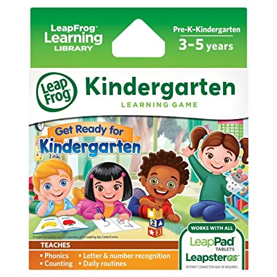 LeapFrog Learning Game: Get Ready for Kindergarten (for LeapPad Ultra, LeapPad1, LeapPad2, Leapster Explorer, LeapsterGS Explorer): Toys & Games