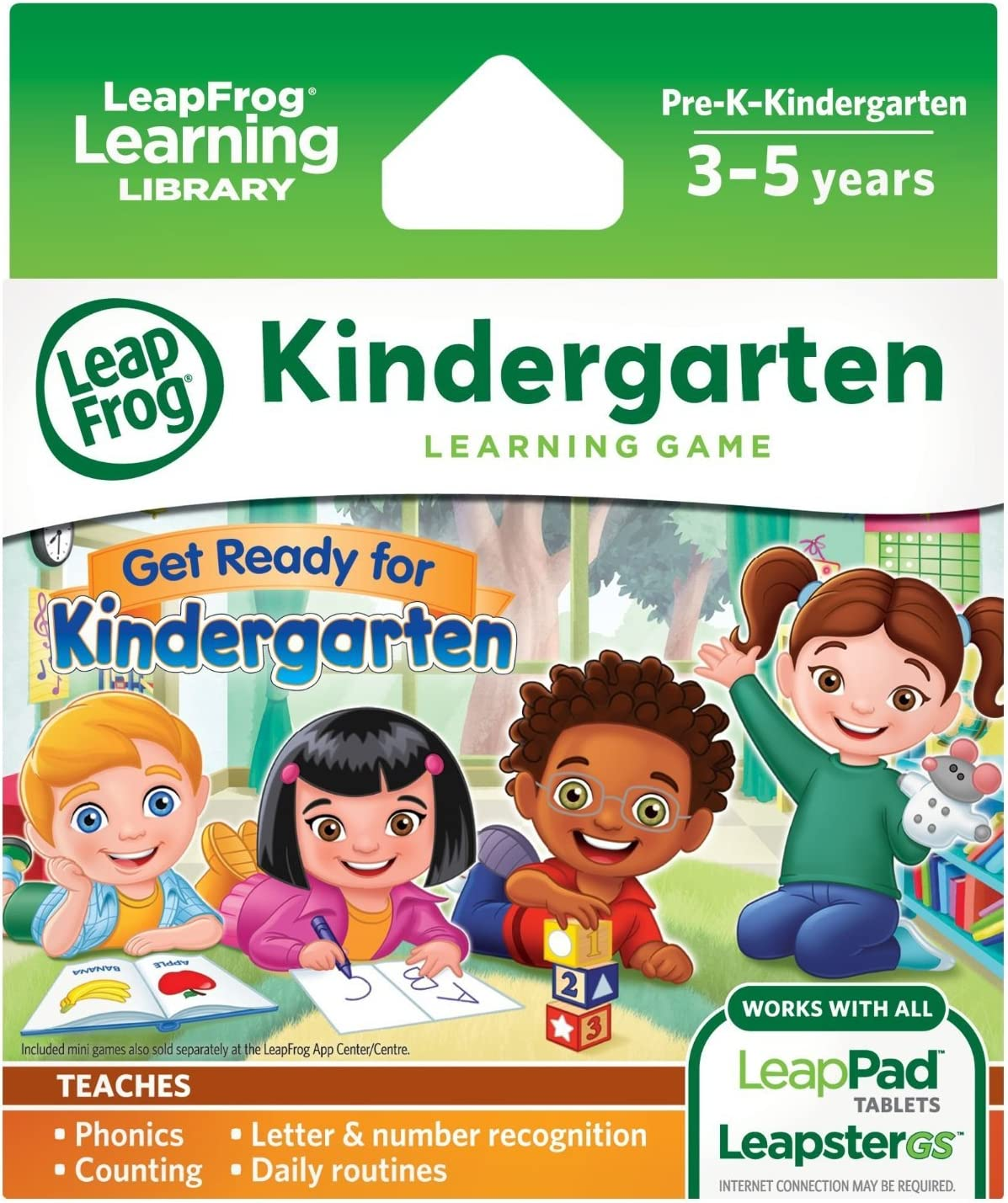 LeapFrog Learning Game: Get Ready for Kindergarten (for LeapPad Ultra, LeapPad1, LeapPad2, Leapster Explorer, LeapsterGS Explorer)