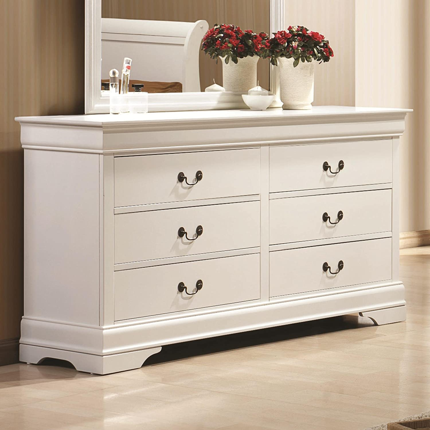 Amazon.com: Coaster Home Furnishings 204693 Traditional Dresser, White:  Kitchen U0026 Dining