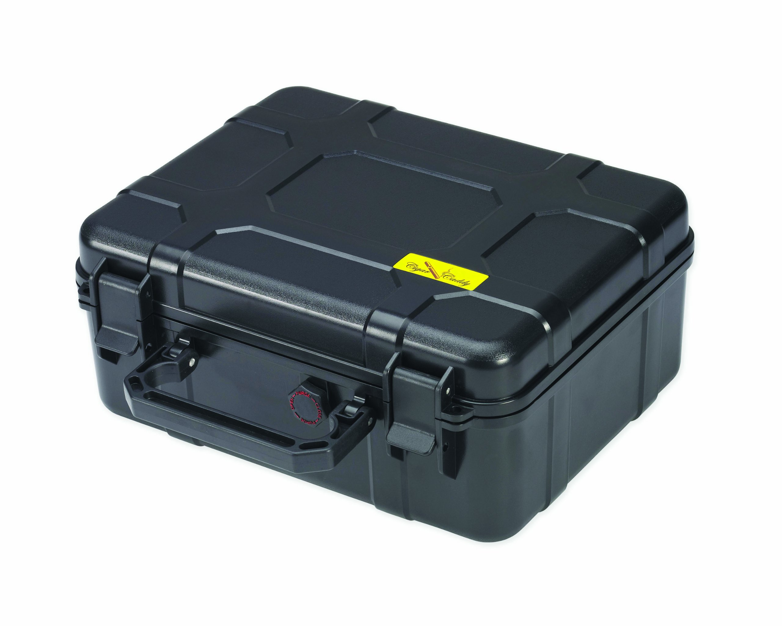 Cigar Caddy 40 40-Cigar Waterproof Travel Humidor, Black Matte