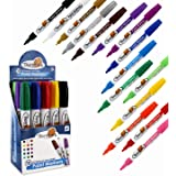Thornton's Art Supply Oil-Based Paint Markers, Medium Point, Assorted Colors, Set of 15