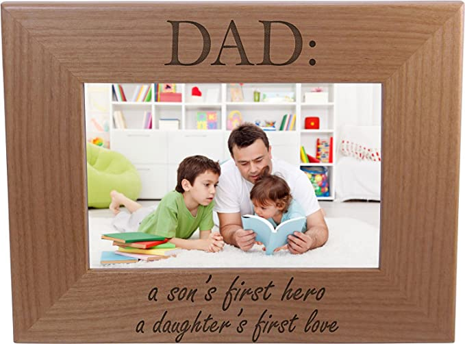 Wood and Metal 4x6 Picture Frame Pavilion Dad A Daughters First Love