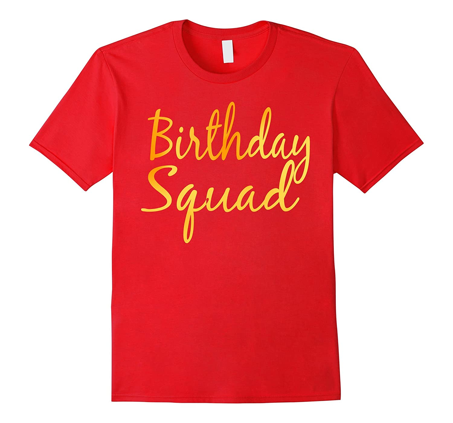 Birthday Squad T Shirt Party Black-Awarplus