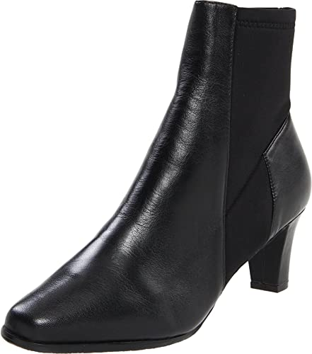 Trotters Women's Janet Ankle Boot,Black Burnished Leather,6 N US