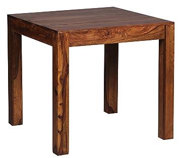 Holztisch modern  Wohnling Esstisch MUMBAI Massivholz Sheesham 80 x 80 x 76 cm ...