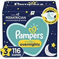 Pampers Diapers Size 3, 116 Count - Swaddlers Overnights Disposable Baby Diapers, Enormous Pack (Packaging May Vary)