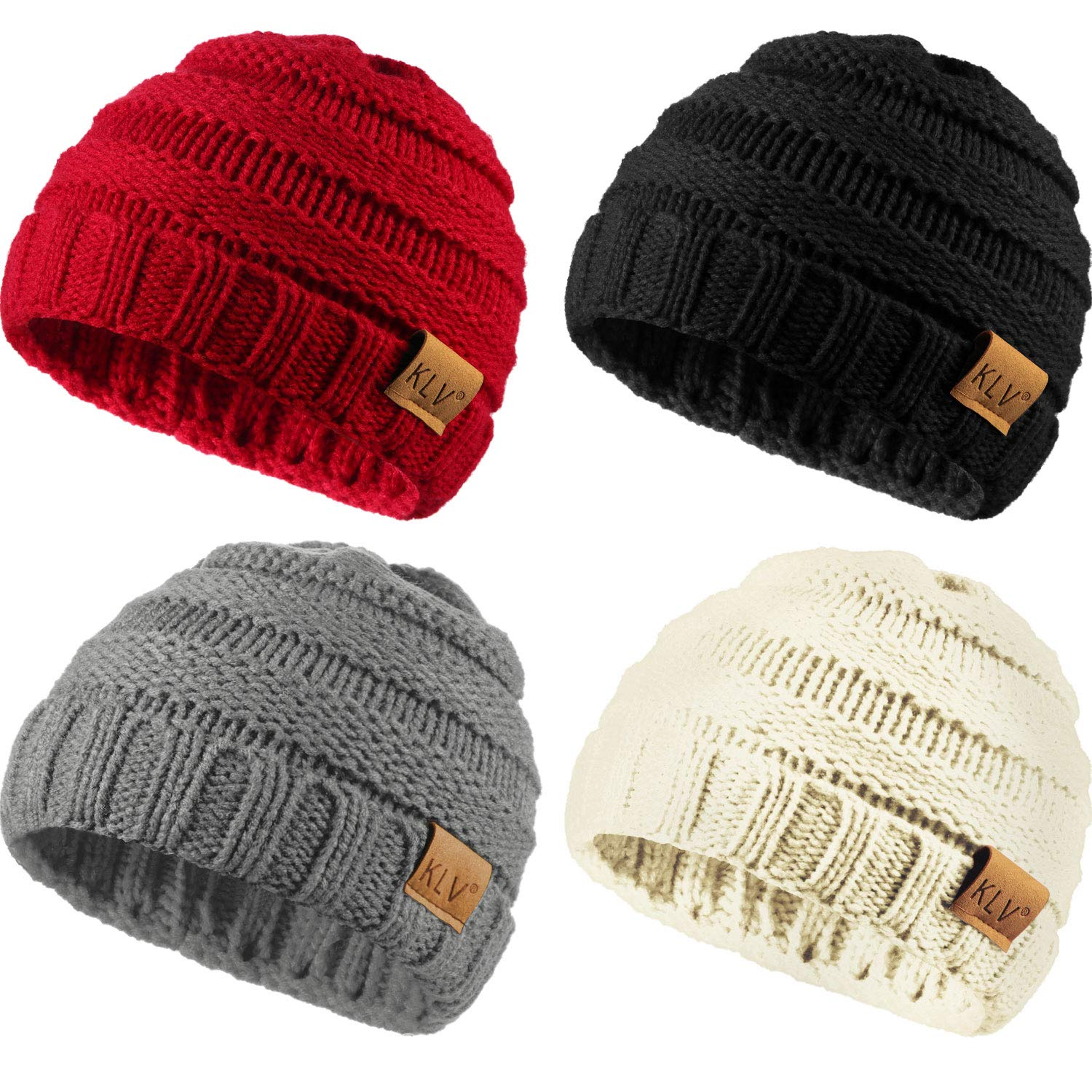 Amazon.com  Zhanmai 4 Packs Knitted Baby Hats Caps Cute Cozy Chunky Winter  Infant Toddler Baby Beanies Boys Girls (Multicolor B)  Clothing 8dc5aa5639a