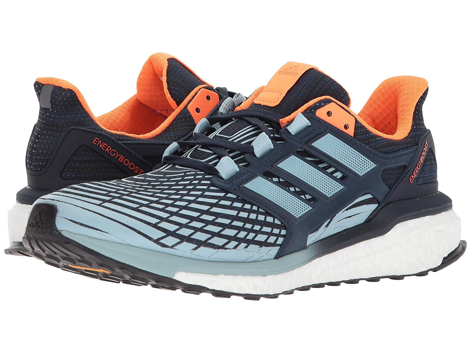 (アディダス) adidas メンズランニングシューズスニーカー靴 Energy Boost Collegiate Navy/Ash Grey/Solar Orange 9 (27cm) D - Medium B07CCZVFN5