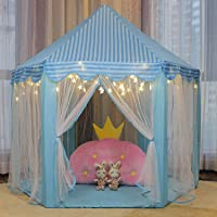 Kids Play Tent, Large Durable Kids Fairy Playhouse Hexagon Princess Castle Tent for Girls, Boys, Children Indoor and Outdoor Games