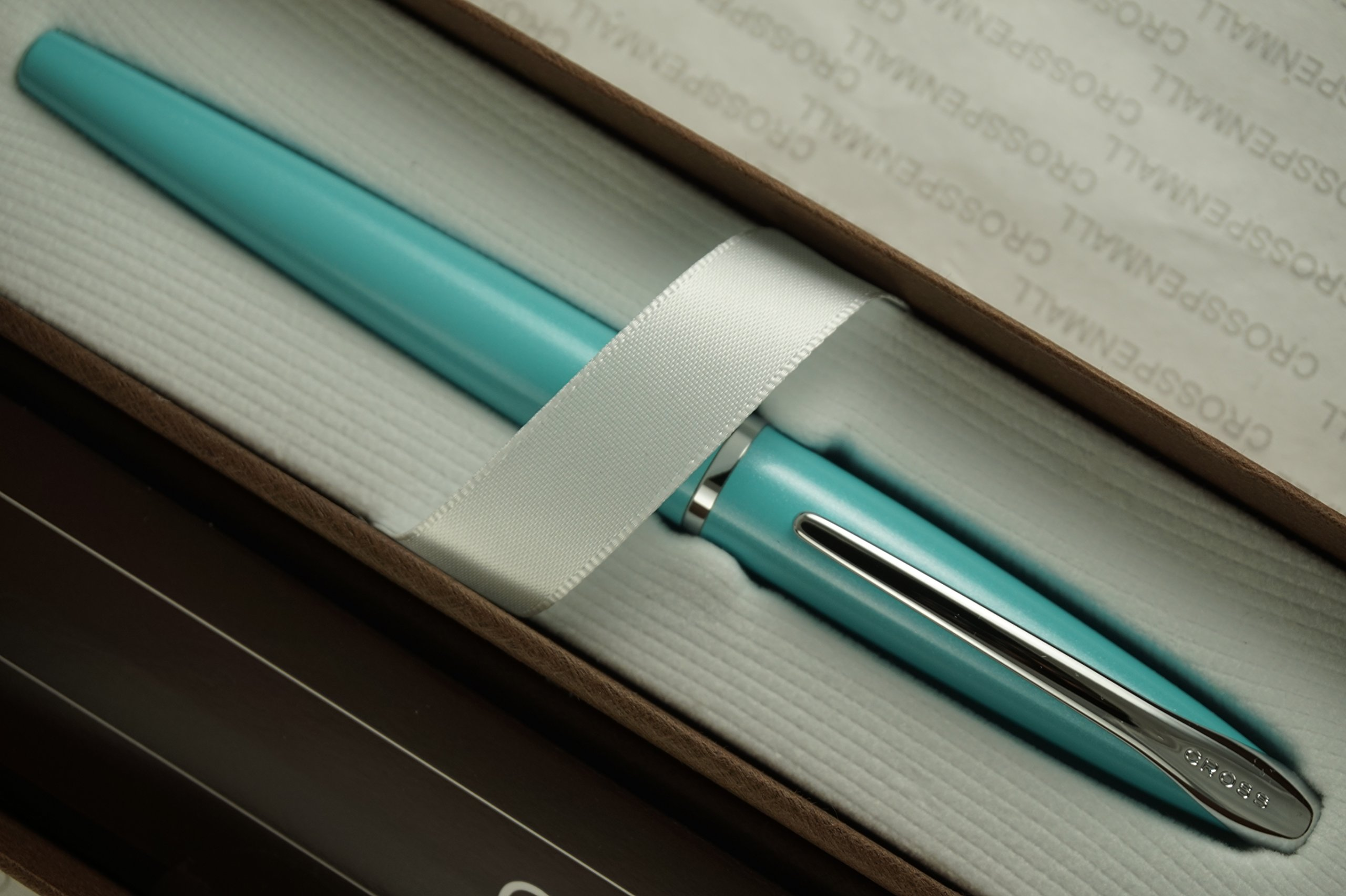 Cross ATX Pearlescent Teal-Blue and Polished Appointments Gel Ink Selectip Rollerball Pen , Very Rare