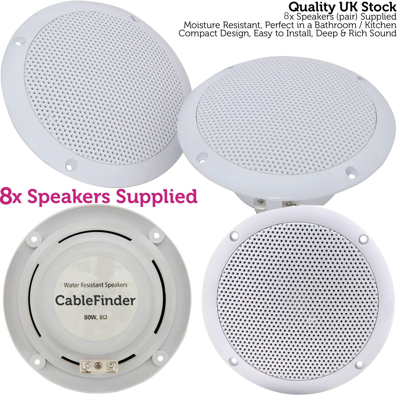Bar & Restaurant Bluetooth-Lautsprecher-Set – 4 x: Amazon.de: Elektronik