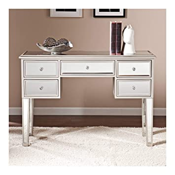 Amazon Com Southern Enterprises Mirage Mirrored Console Table In