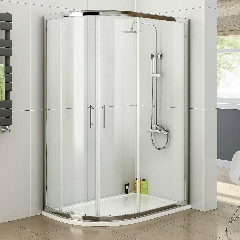 Fácil de limpiar 900 x 900 mm lazo mampara de ducha - entrada especial para zurdos: iBath: Amazon.es: Bricolaje y herramientas